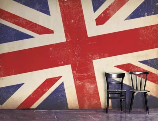British Interior Design use of 'the union jack' flag