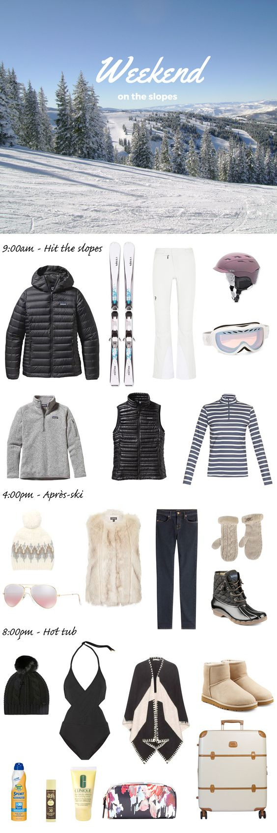With the fresh air, snow-covered trees, and charming ski towns, it doesn't get much better than a trip to the mountains in the wintertime. Skiing and snowboarding are such fun activities and as a bonus a really great workout. Trying to pack light in the winter is difficult with the bulky sweaters, coats, and boots, but packing for a ski ...