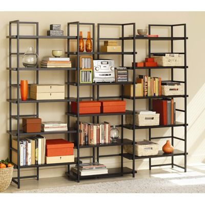 Modern Steel Shelving Design With Book
