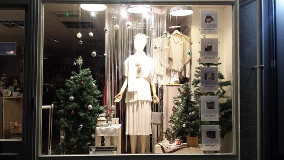 LOVE our Moorland Road charity shop window, ready for the xmas lights turn on this Saturday 14th. #charityshopwindow #visualmerchandising
