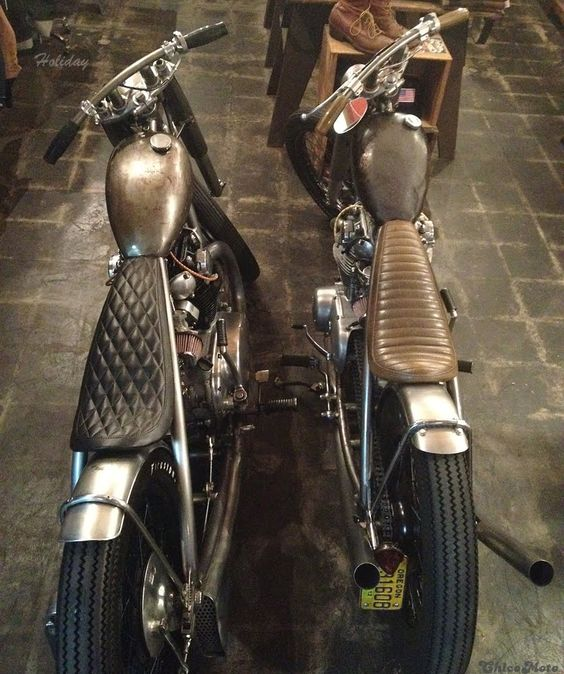 beautiful twins from chico moto   cafe racer   pinterest