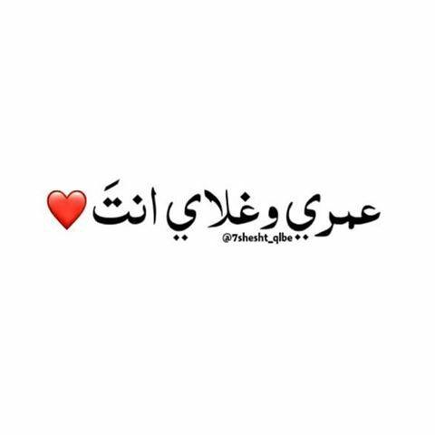 حياتي و ديني و عمري انتي من غيرك مييييييييييت انا Arabic Love Quotes Romantic Quotes Short Quotes Love
