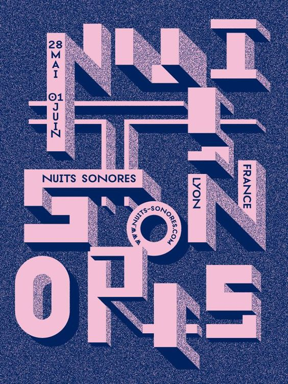Affiche Nuits Sonores 2014 http://www.nuits-sonores.com/ #Lyon #Festival