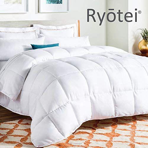 Ryotei Luxury All Season Duvet Insert Quilted Box Pattern Design Comforter Down Alternative Soft Plush Sili Cool Comforters Fluffy Comforter Down Comforter