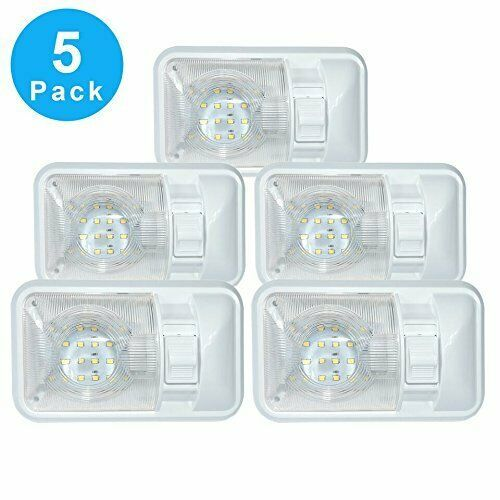 Sponsored Ebay 5 Pack 12 Volt Led Dome Light Ceiling Fixture Interior Rv Trailer Camper Marine Dome Light Fixture Dome Lighting Rv Interior