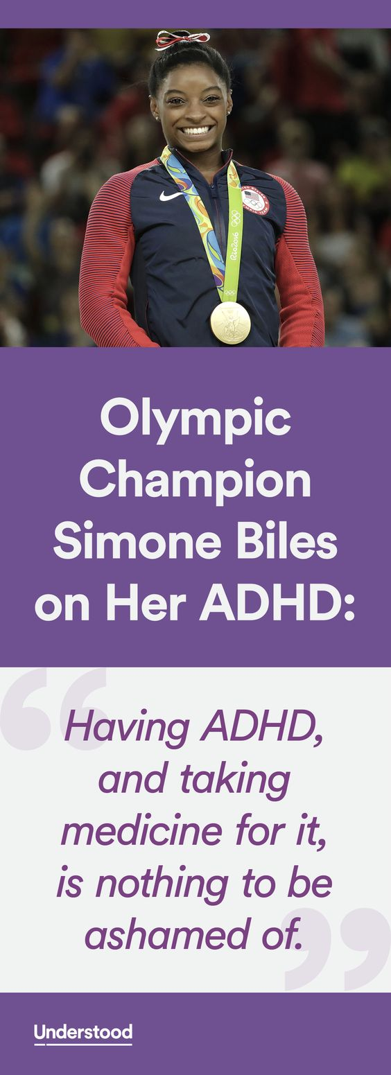 Simone Biles charmed the world at the 2016 Rio Olympics as she won four gold medals in gymnastics. Now, she's talking about something personal. She has ADHD (also known as ADD) and takes medication for it.