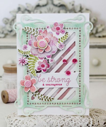 Be Strong Card by Melissa Phillips for Papertrey Ink (March 2017)