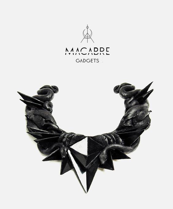 #macabregdgets #ss14 #collar #fashion #jewels #black #snake #gothic #accessories