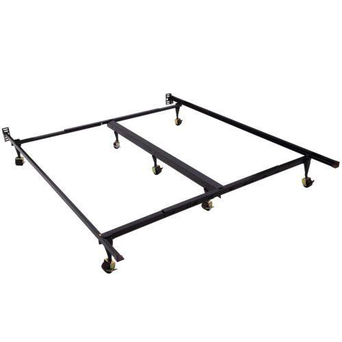 Ghp Adjustable Heavy Duty Metal King Queen Bed Frame Platform With Roller King Metal Bed Frame Buy Bed Frame Bed Frame Design