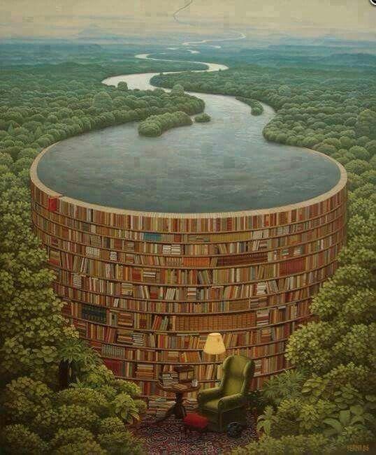 Behind every stack books there is a flood of knowledge