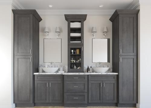 Pre Assembled Bathroom Vanities Cabinets The Rta Store Bathroom Remodel Ideas Grey Grey Bathroom Tiles Trendy Bathroom Rta bathroom cabinets near me