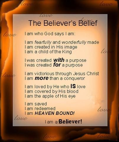 Believer's Belief Wall Art/Poster