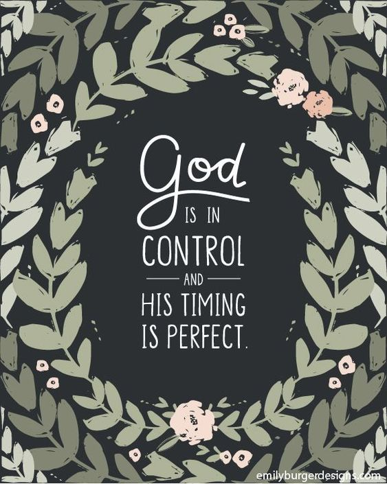 God is in control and His timing is perfect. Christian quotes on t-shirts, tank tops and art prints for women. You are loved. Emily Burger Designs is now Blue Chair Blessing.