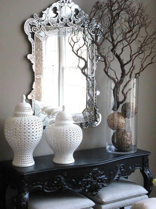 Foyer Table Vases : Eclectic spaces console table design pictures remodel