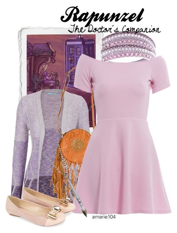 """""""Rapunzel, The Doctor's Companion"""" by amarie104 ❤ liked on Polyvore featuring Swarovski, Disney, maurices, Kivari, AX Paris and Monsoon"""