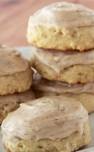 Banana Cookies with Banana Frosting Recipe ~ a scrumptious way to use up over-ripe bananas.