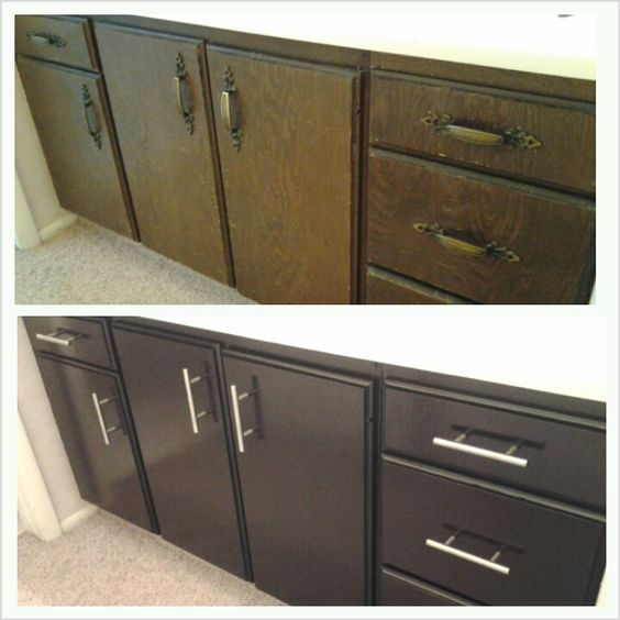 Gel Stain Kitchen Cabinets Espresso: Staining Bathroom Cabinets With General Finishes Java Gel