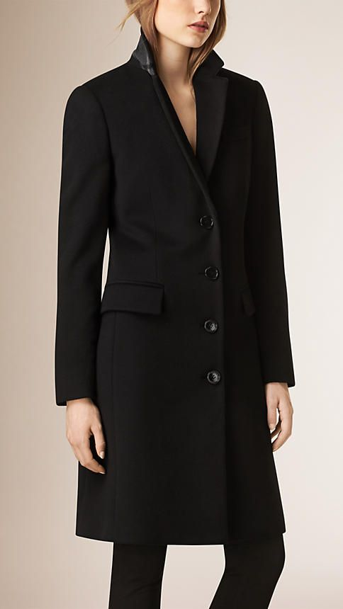 Tailored Wool Cashmere Coat Black | Coats Wool and Need to