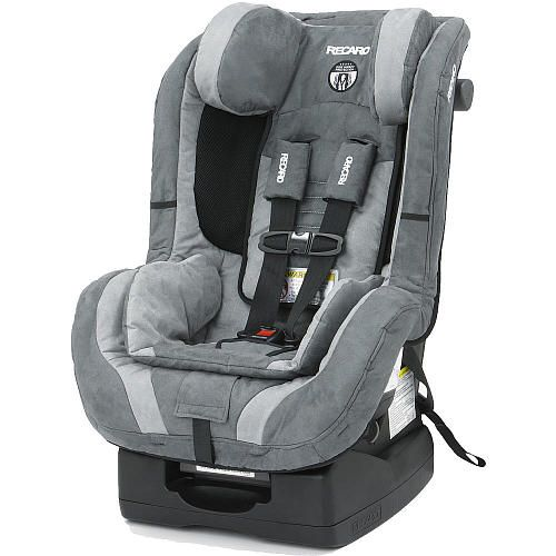 RECARO ProRide Convertible Car Seat - Misty Side Impact Protection is designed to distinctly protect five vulnerable areas of a child - head, neck, face, pelvis and torso. Rear facing from 5lbs to 35lbs, forward facing from 20lbs (1year) to 70lbs. The ProRide features an easy to adjust five-point harness, cool mesh air ventilation, and a lock-off mechanism that locks the vehicle seat belt in the belt path for optimum safety in the forward facing position.