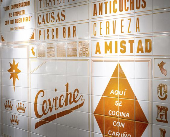 love this tiled menu, in london, by here design
