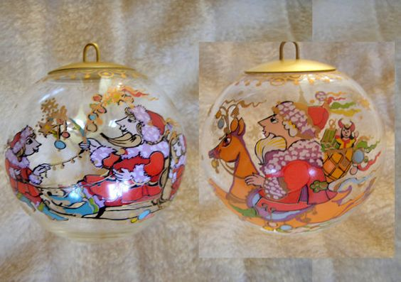 Rosenthal Bjoern Winblad Xmas painted Glass by PlanetNathalie2, €17.90
