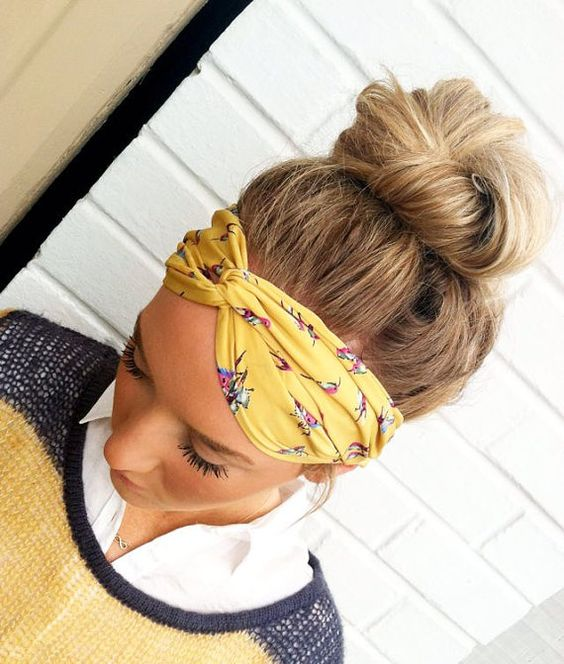 This is cute: Hummingbird Stretchy Twisted Headband  Sueded by ThreeBirdNest, $24.50