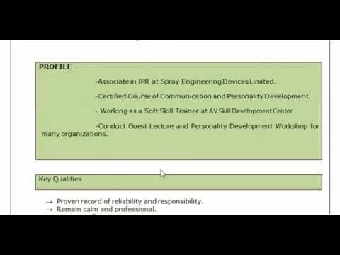 How to make Experienced resume ? Interview Suggestions by Abhishek - resume suggestions