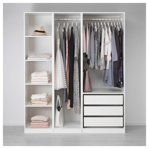 PAX Kleiderschrank, weiß, Uggdal Färvik Öfen - schlafzimmerschrank weiß hochglanz