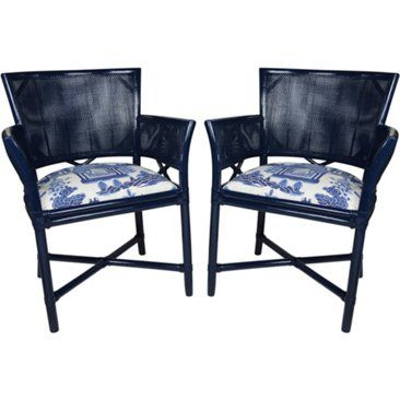 Check out this item at One Kings Lane! Ficks Reed Schumacher Chairs, Pair