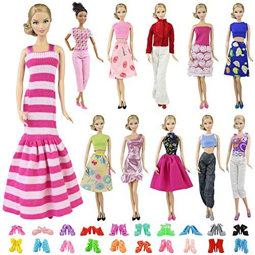 Lot of 5 Handmade Doll Dresses Clothes Handmade Dresses Set for 11.5 inches Doll