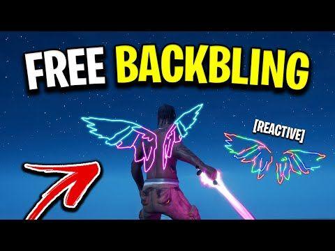 Free Back Bling In Fortnite How To Unlock The Free Neon Wings Backbling In Fortnite Youtube Fortnite Epic Fortnite Neon
