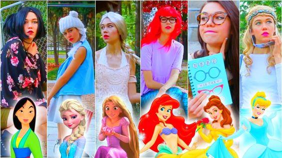 If Disney Princesses Went to School: DIY Last Minute Halloween Costumes