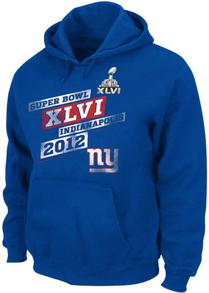 $49.99 from FansEdge - New York Giants Royal Super Bowl XLVI On Our Way IV Hooded Sweatshirt - This sweatshirt features a front pouch pocket, drawstring hood and vibrantly colored team graphics to show everyone your New York Giants are Super Bowl bound. http://www.fansedge.com/New-York-Giants-Royal-Super-Bowl-XLVI-On-Our-Way-IV-Hooded-Sweatshirt-_-142161146_PD.html?social=pinterest_020212_superbowl