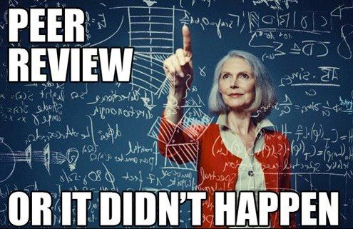 Peer review or it didn't happen! #science: