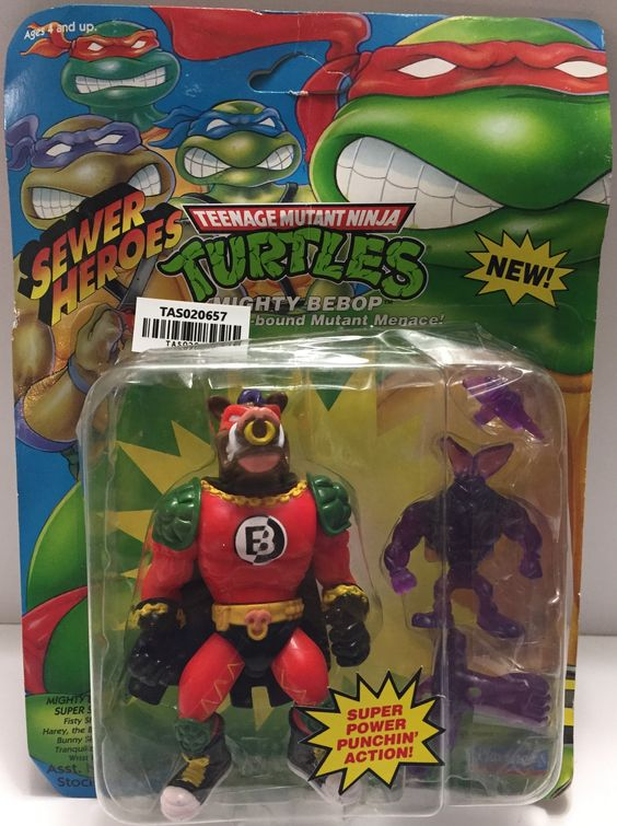(TAS020657) - 1993 Playmates Teenage Mutant Ninja Turtles Sewer Heroes Mighty Be