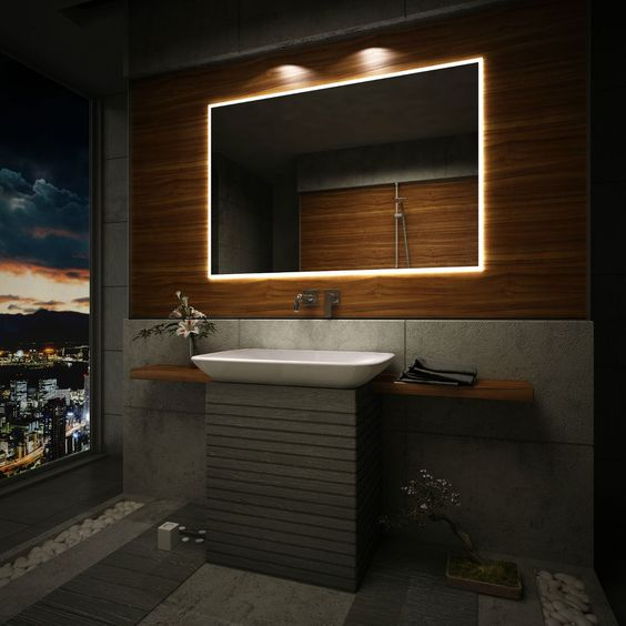 Bathroom Mirror Backlit led lit bathroom mirrors. bathroom mirrors saveemail on sich
