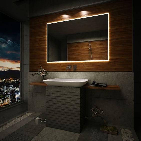 Bathroom Mirrors Backlit led lit bathroom mirrors. bathroom mirrors saveemail on sich
