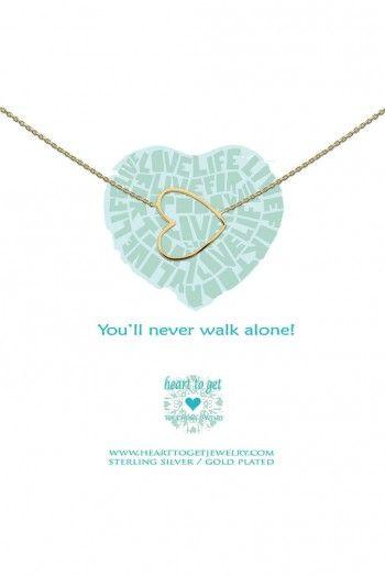 Heart to Get ketting Gold Heart N35BHE12G | JewelandWatch.com