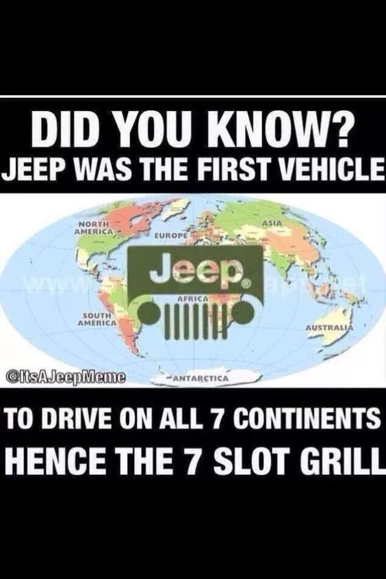 Educate yourself. #TheMoreYouKnow pic.twitter.com/8Zmjy8FcFD #jeepedin