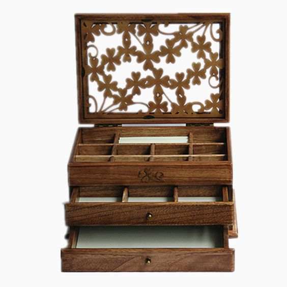 Roland Dreischicht Carvings Hohl Hart Holz Schmuckkasten Schmuck Box