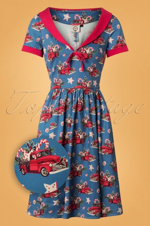 Banned Christmas Drive In Stealblue 26137 20180718 0002z Swing Dress Vintage Style Outfits Dresses