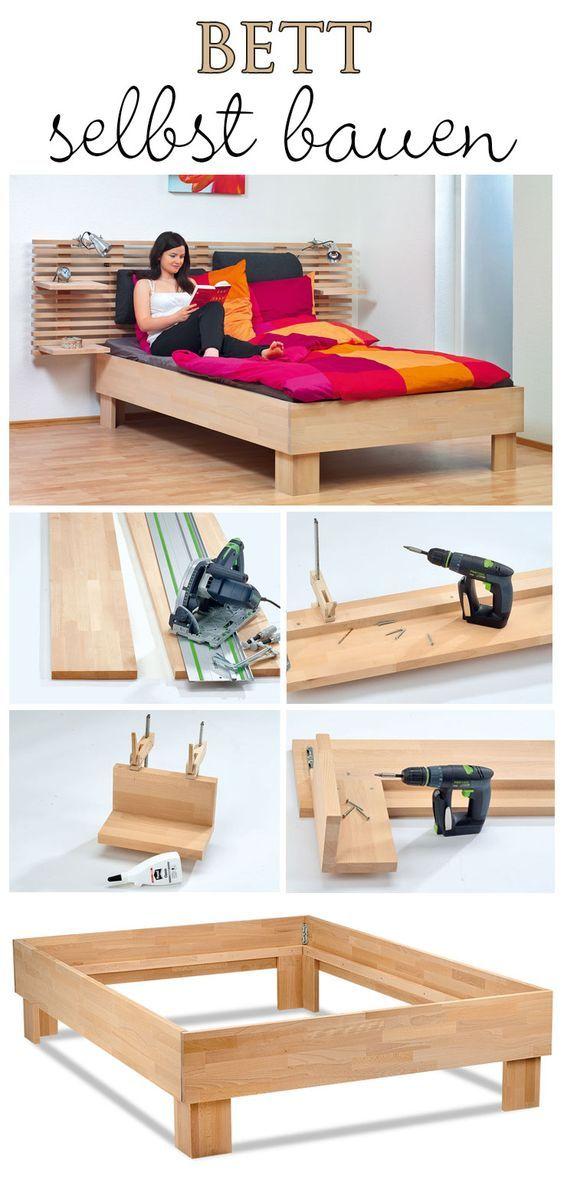 Die besten 25+ Bett selber bauen 140x200 Ideen auf Pinterest - schubladenbett massivholz ideen