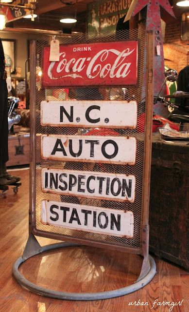 Vintage sign from American Pickers Nashville shop (Urban Farmgirl blog)