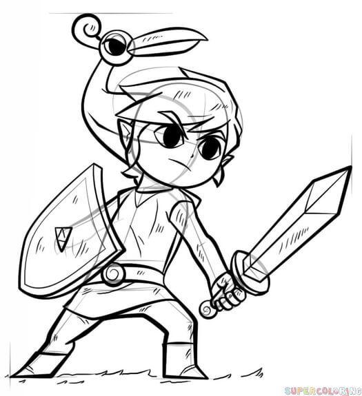 Zelda Malvorlagen Ost