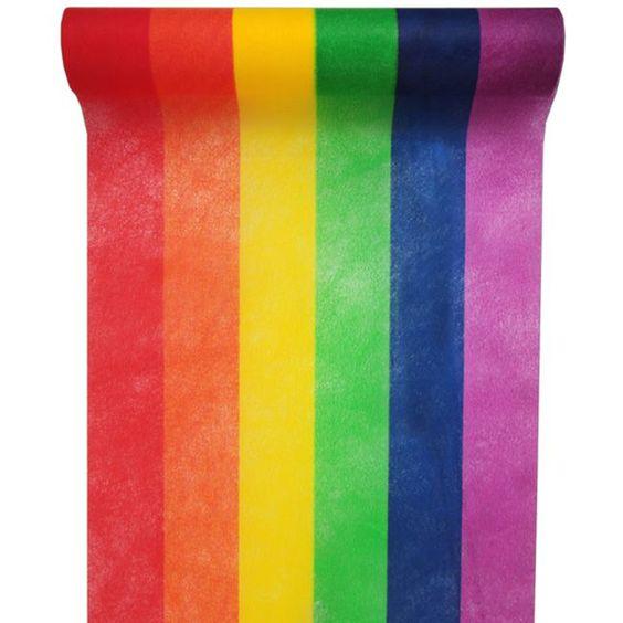 Tischdecke Regenbogen Tischläufer Bunte Streifen