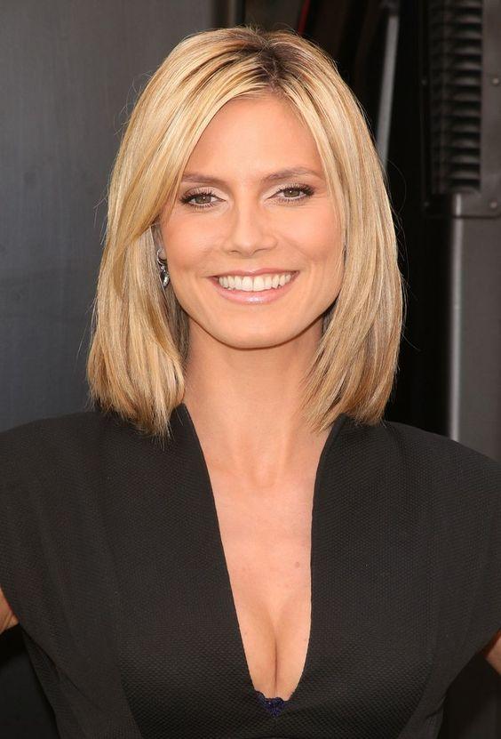 Pleasing Round Faces Heidi Klum And Blonde Hairstyles On Pinterest Short Hairstyles Gunalazisus
