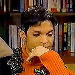 Best Prince GIFs | When you're really not in the mood to answer any questions.