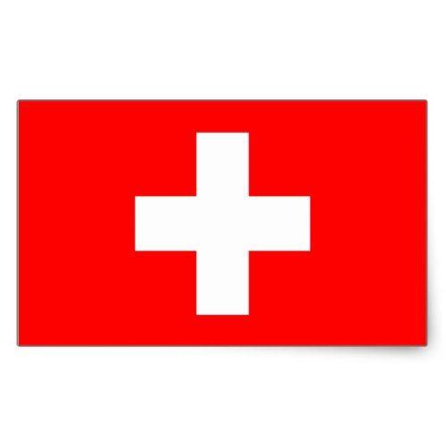 Switzerland Flag Rectangular Sticker Zazzle Com Switzerland Flag Print Stickers European Flags