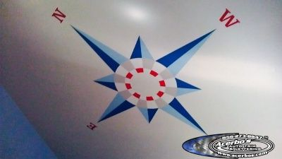 Compass Ceiling Decal