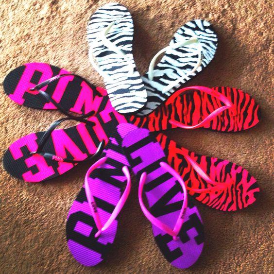 Victoria's secret pink flip flops! Love